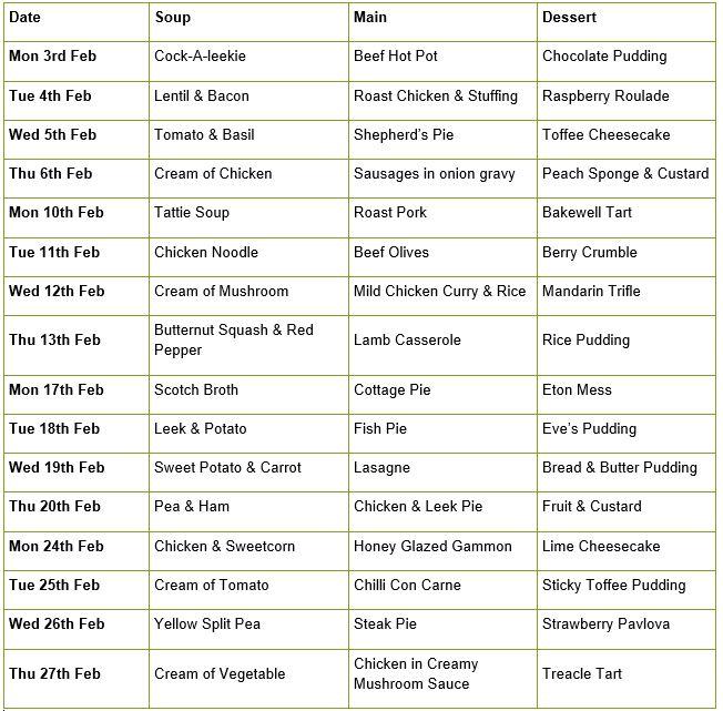DTYD Feb 20 menu